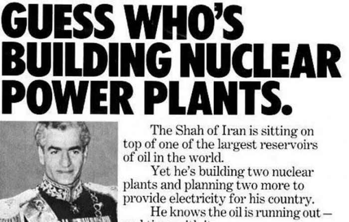 The Shah of Iran and nuclear power