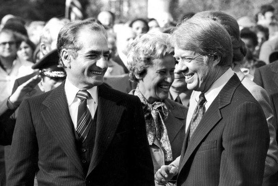 The Shah of Iran on the left with his good friend, former US President Jimmy Carter