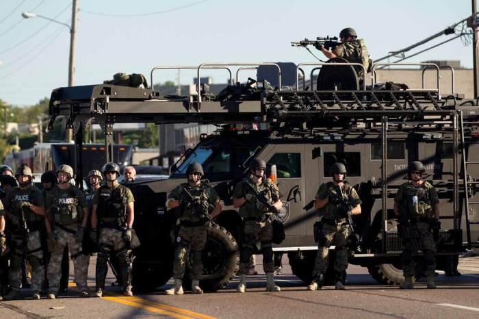 This is Ferguson - a Latin-Americanised police force