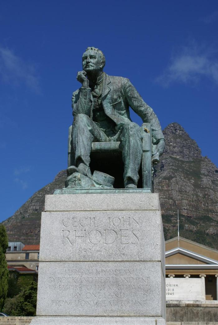 Cecil Rhodes statue at the University of Cape Town